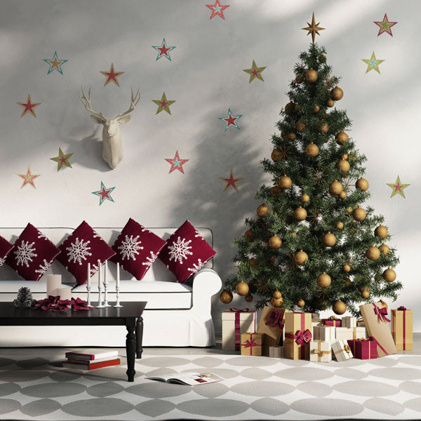 all stars - How To Decorate A Small Living Room For Christmas