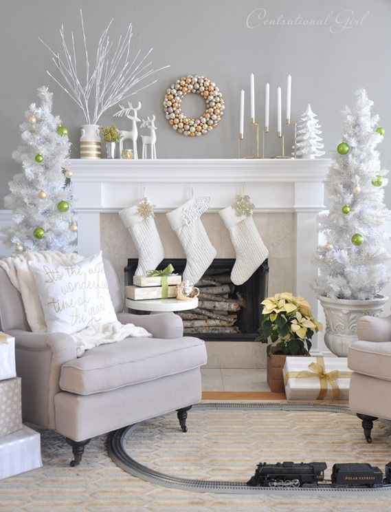 30 Cosy Christmas Living Room Decorating Ideas , Gravetics