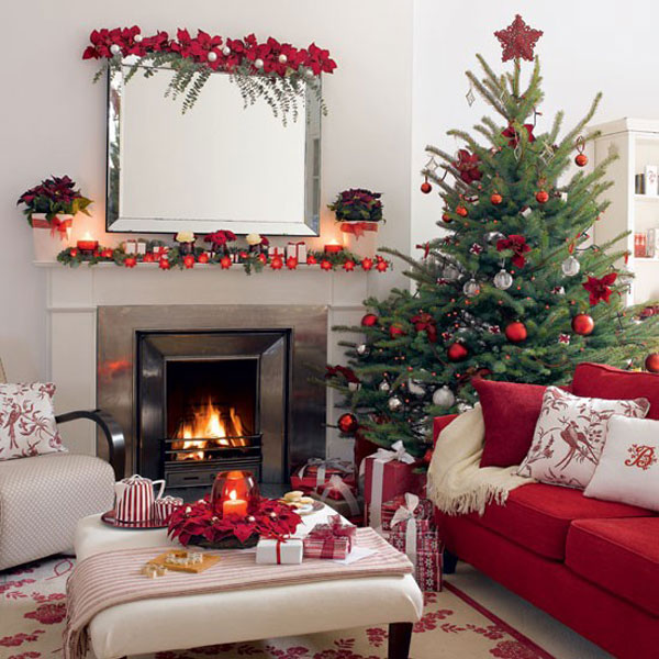 Christmas Living Room Decorating Ideas Decor 30 cosy christmas living room decorating ideas  gravetics