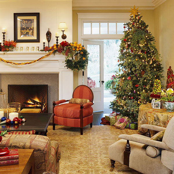 30 cosy christmas living room decorating ideas gravetics - Living room christmas decor ideas ...