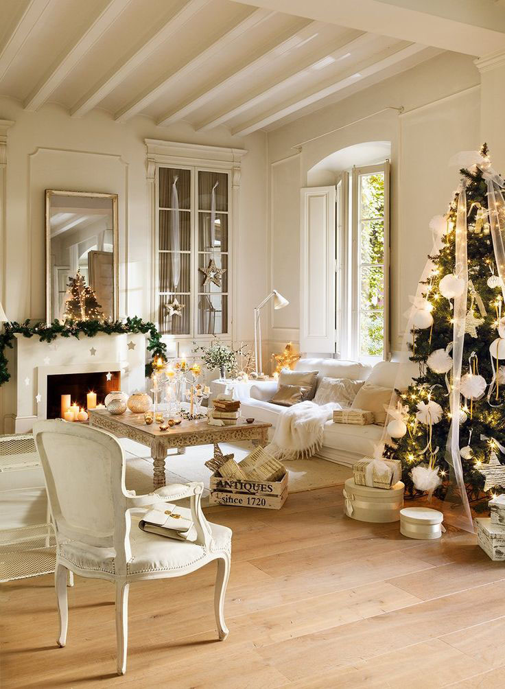 30 Cosy Christmas Living Room Decorating Ideas - Gravetics