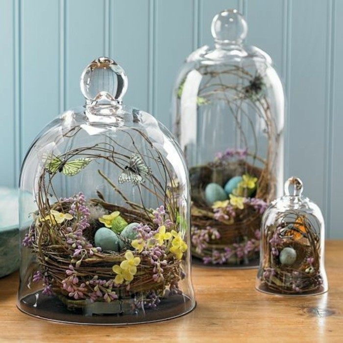 Christmas decorate for the holidays with bell jars