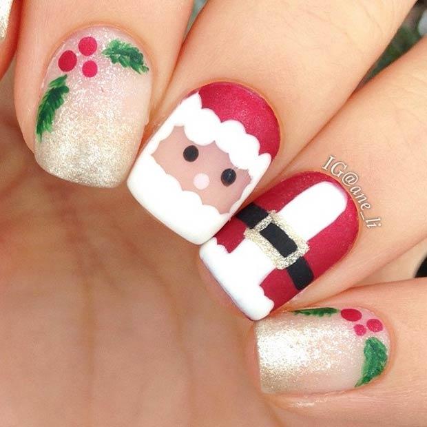 easy christmas nail art Archives - Gravetics