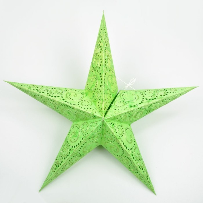 how to make a 3d star out of paper