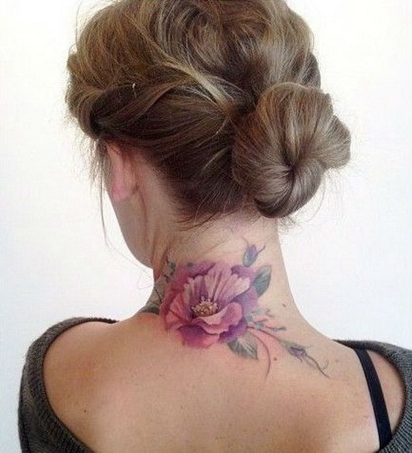 35 Splendid Back Of Neck Tattoo Designs: 80 Awesome Back Neck Tattoo Ideas For Women