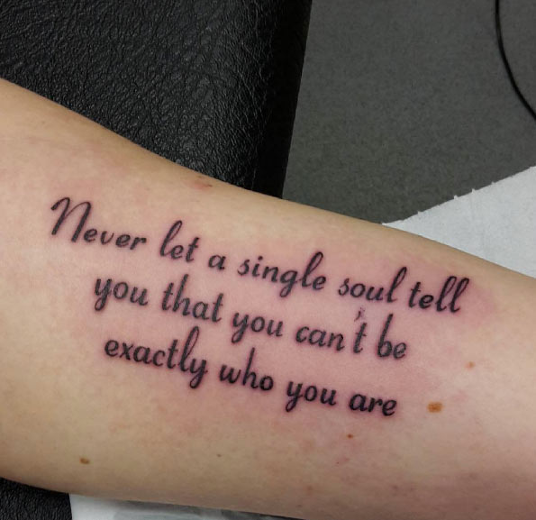 45 Stunning Quotes Tattoo That Will Inspire You To Have