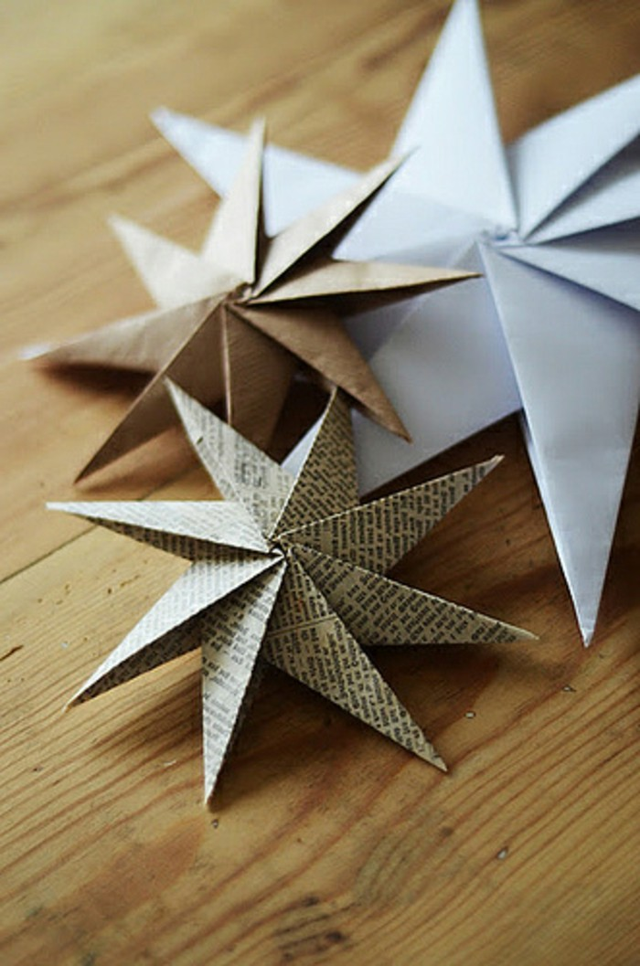 70 Christmas Paper Star Decorations Ideas That Will Char