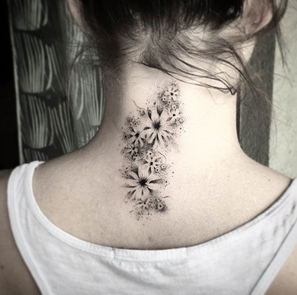 80 Awesome Back Neck Tattoo Ideas For Women Gravetics