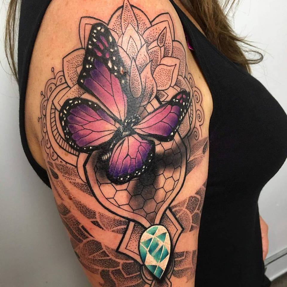 347015a55 40 Creative Butterfly Tattoos For Inspiration - Gravetics