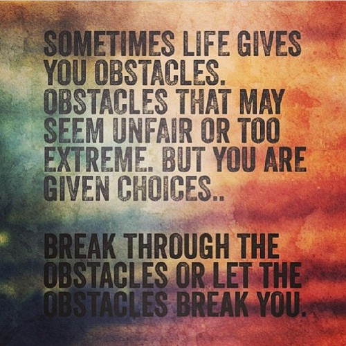 Obstacles in life essay