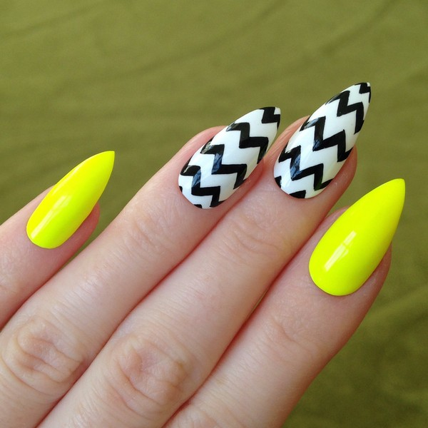 35 stunning pointy nail designs that you want to try gravetics prinsesfo Image collections