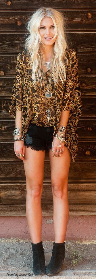 35 Adorable Bohemian Fashion Styles For Spring Summer 2017