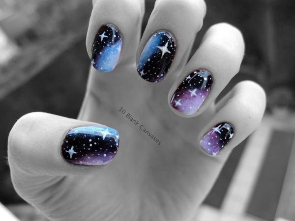 40 Beautiful Star Nail Art Designs And Ideas For 2017 Gravetics