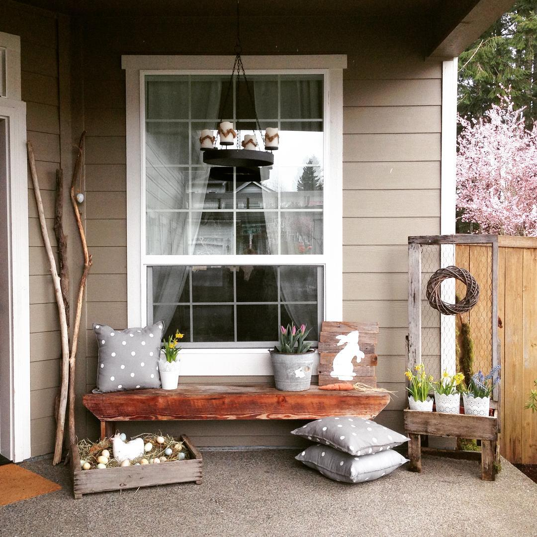 Porch Pictures For Design And Decorating Ideas: 35 Simple Easter Porch Decor Ideas That You'll Love