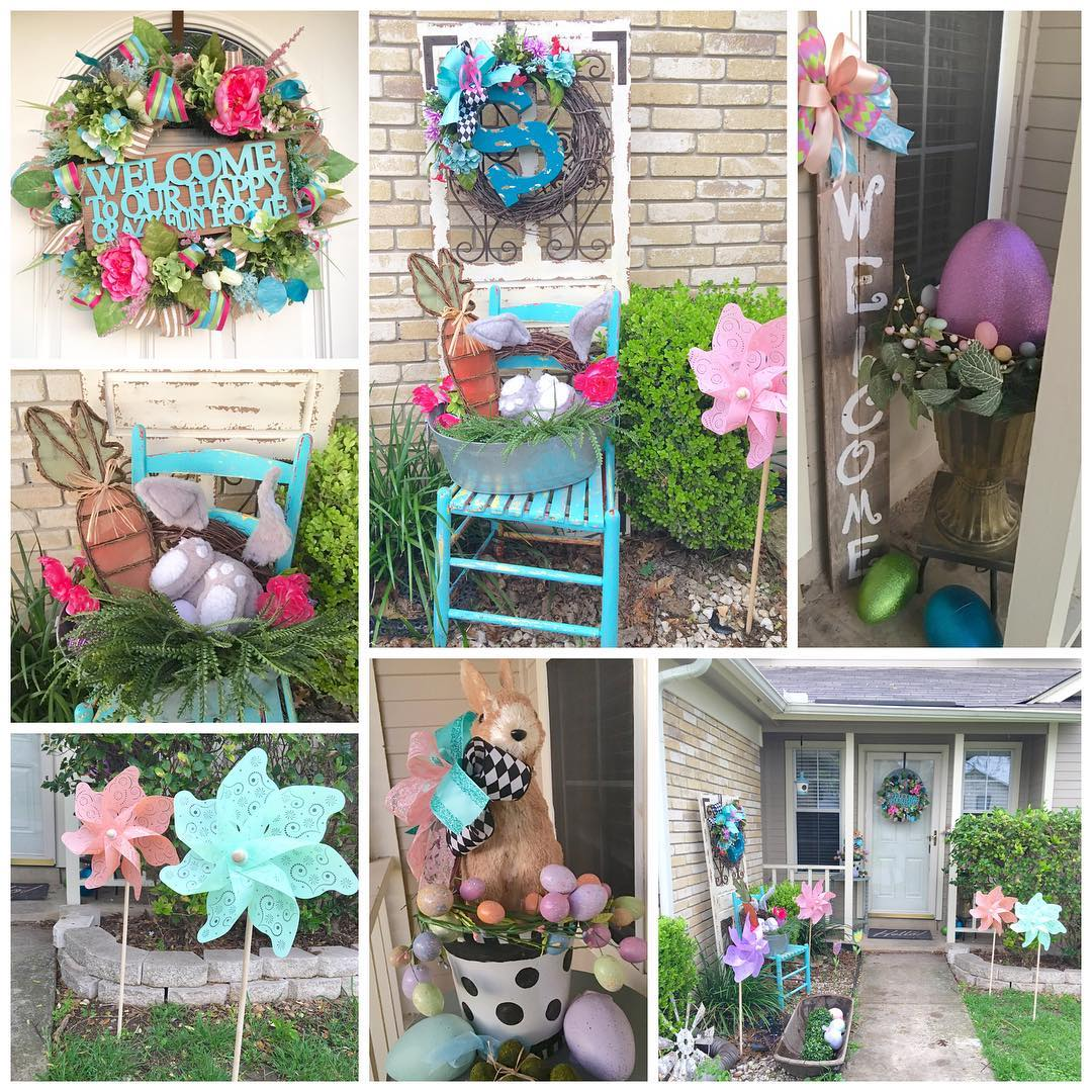 35 Simple Easter Porch Decor Ideas That You'll Love