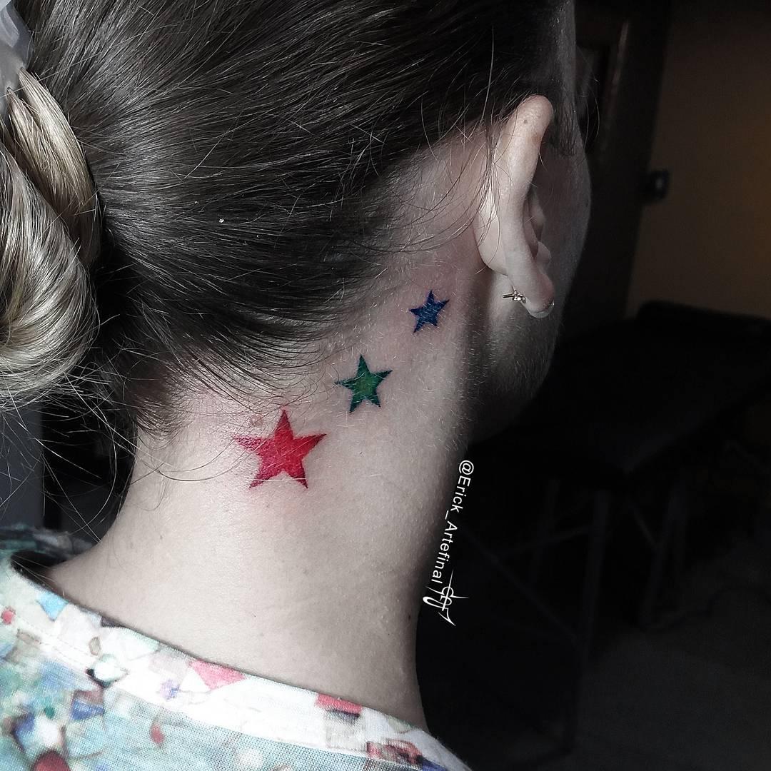 55 Einzigartige Star Tattoo-Ideen für ein neues Level an Körperkunst