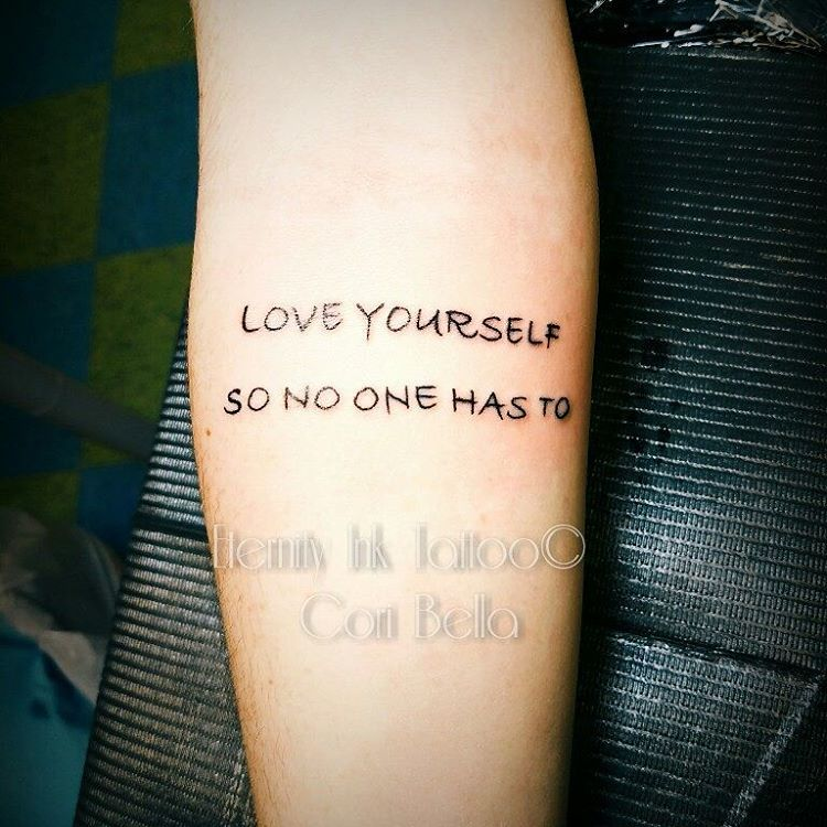 Tattoo Quotes Minimalist: Be Motivated With 55 Inspirational Quote Tattoos For Girls