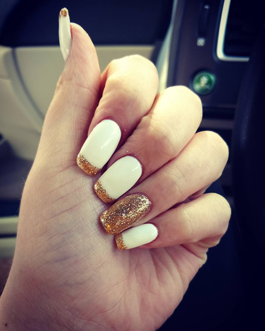 Got My Nails Did At Classy Acrylicnails White Gold Classynails
