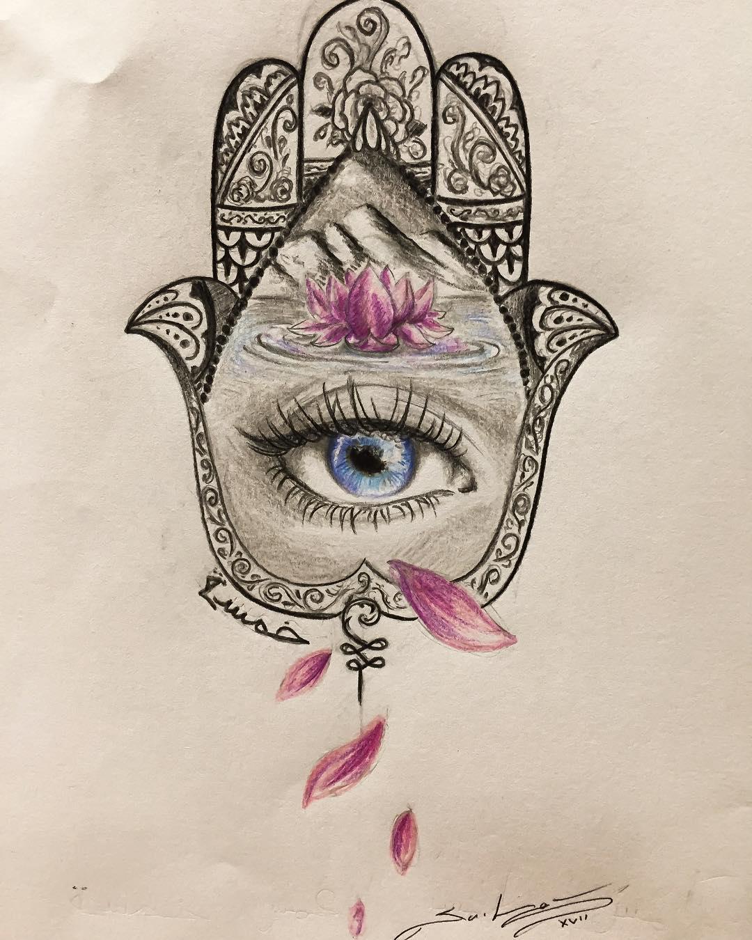 80d9556d0 #hamsa #hamsatattoo Hamsa #art #illustration #follow4follow #draw  #hamsatattoo #picture #artist ...