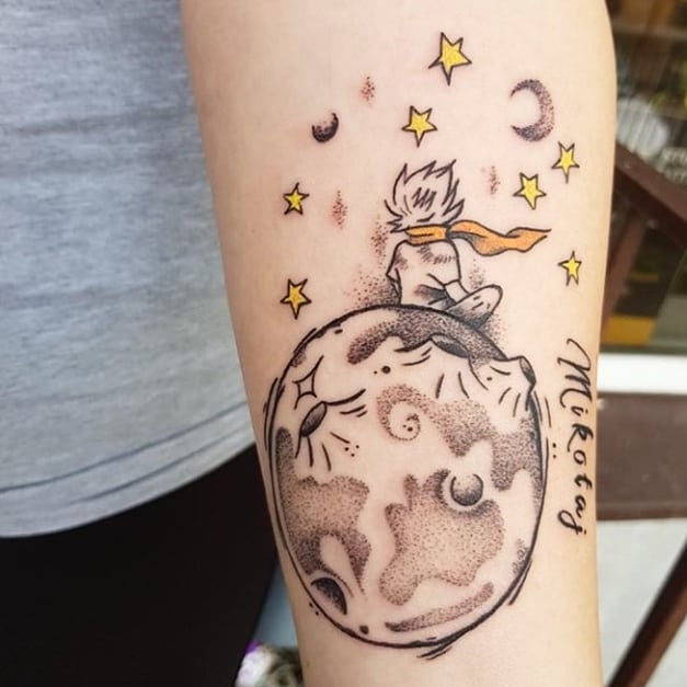 45 get inspired with these charming little prince tattoos for Tattoos to express love