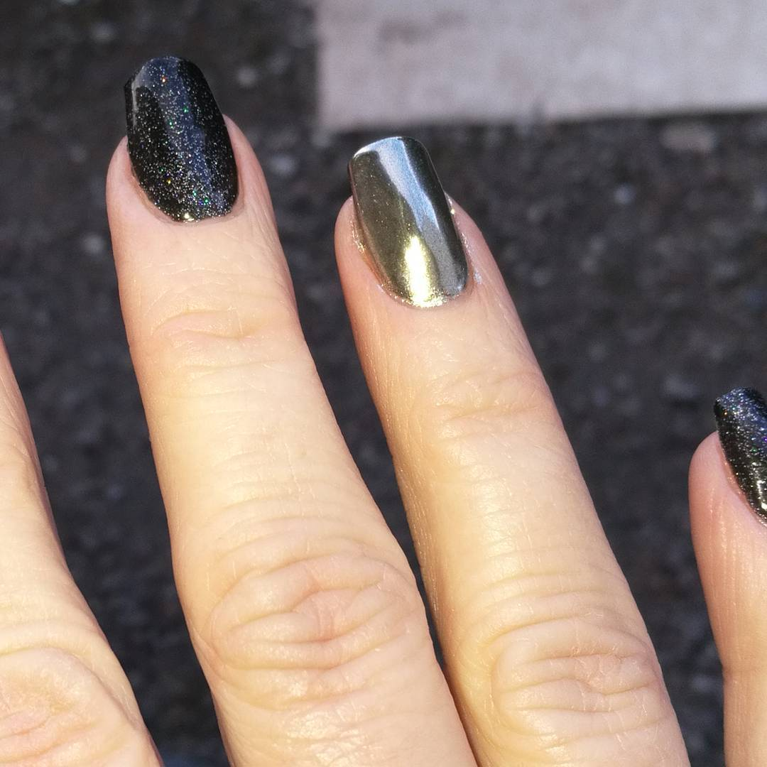 45 Jump on the Latest Trend with These Chrome Nail Art Ideas French Tip Stiletto Nails With Design