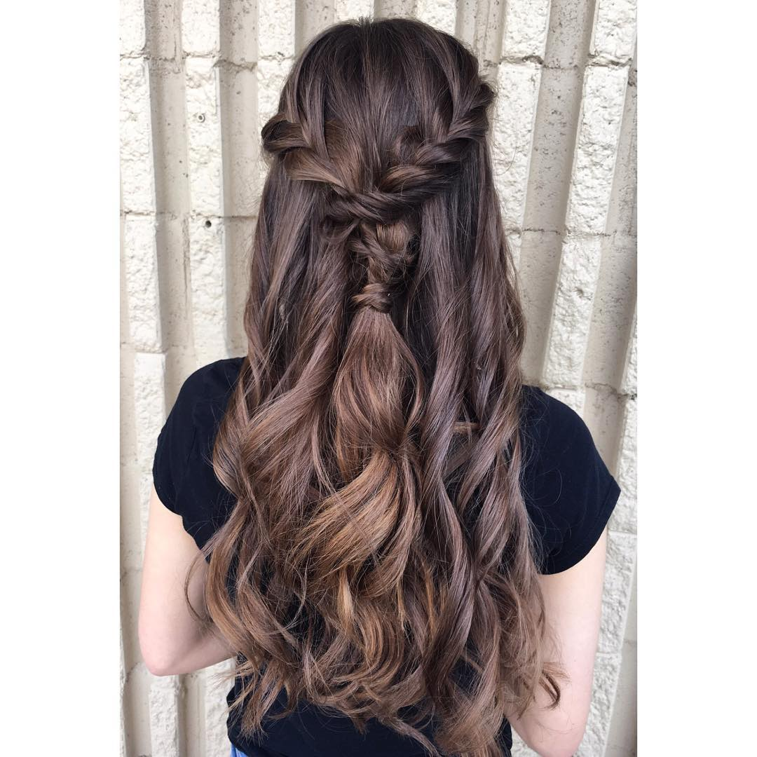 black prom hairstyles for long hair down hairstyles