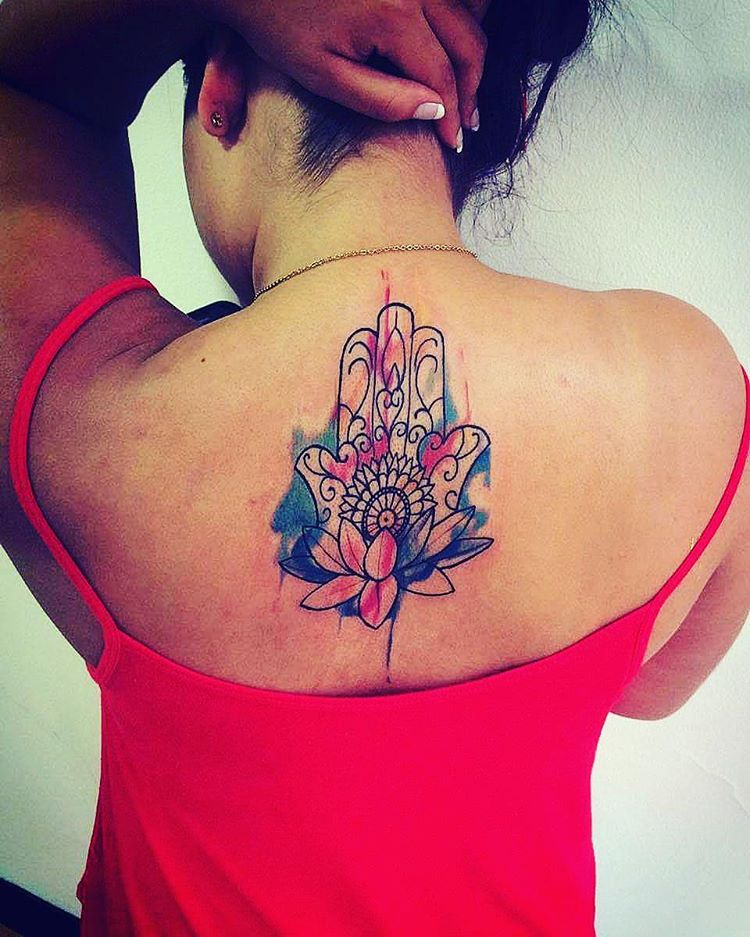Lotus Flower Tattoo Colorful