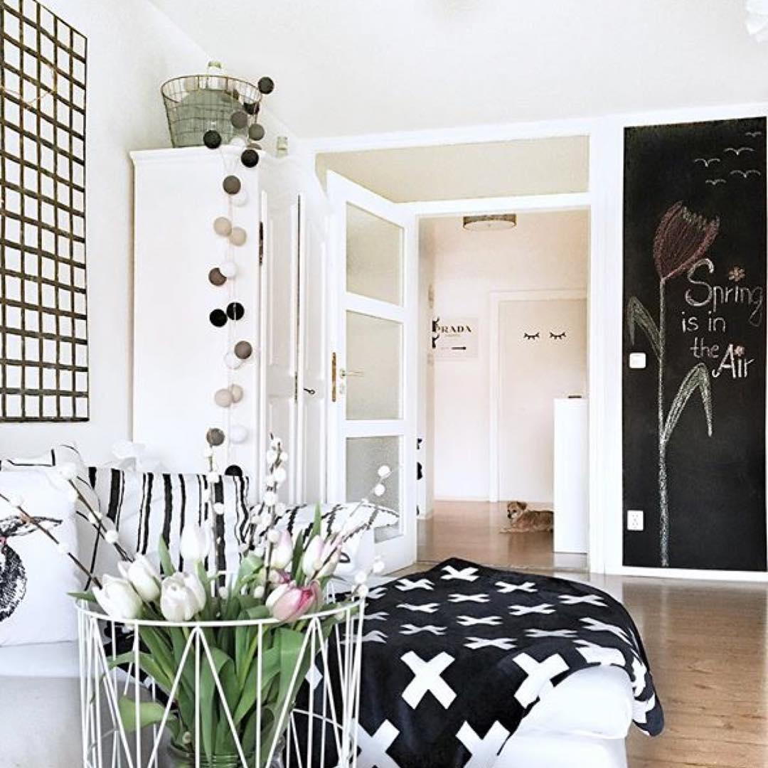 ... Chain #stringlights #interior #design #scandinavian #living #room ...