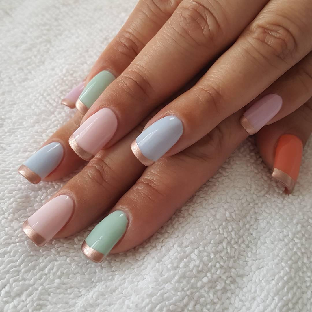 Nailart Frenchmanicure Shellacnails Nails Blackorchidnailandskincare Easternails Rosegold