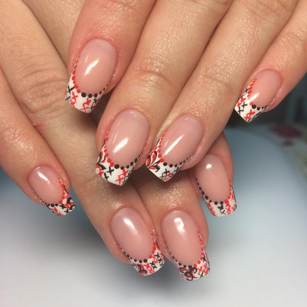 Nail Designs For French Nails Splendid Wedding Company