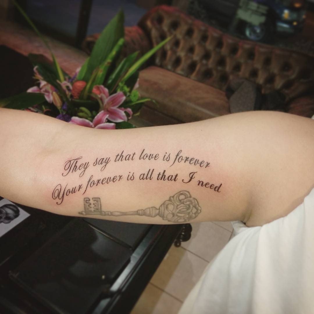 52 Love Quotes Tattoos: Be Motivated With 55 Inspirational Quote Tattoos For Girls