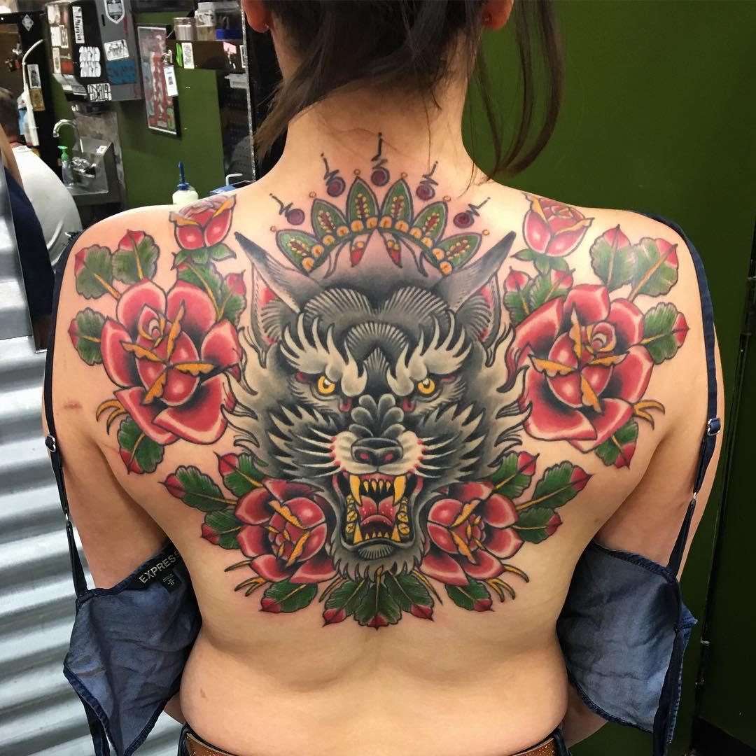 8420a4161 ... #wolf #tattoo #tattoos #traditionaltattoo #traditonaltattoos ...