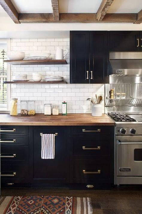 Beautiful Vintage Kitchen Black White Design