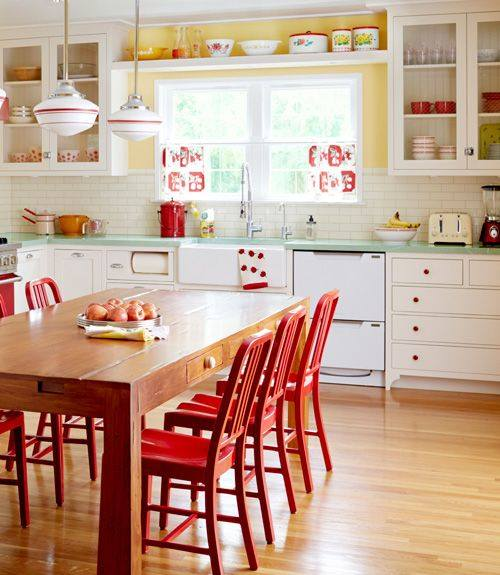 Colorful Kitchen Decor Pictures: 60 Voguish Vintage Kitchen Ideas Which Are Tried And Tested