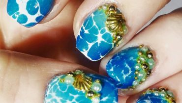 Water Marble Jewelry Nails