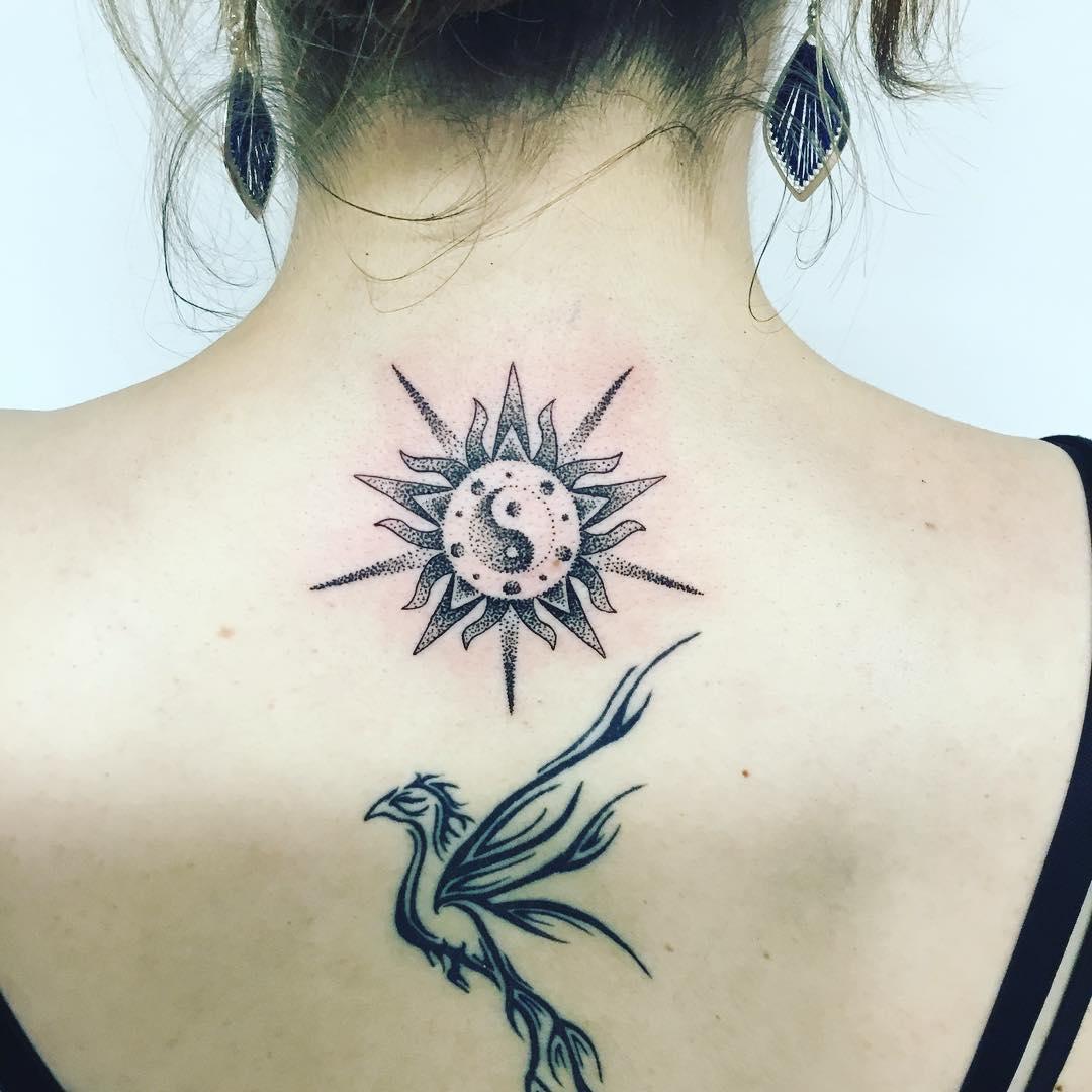 164a1bbeda97e 45 Exclusively Unique Sun Tattoo Ideas to Explore - Gravetics