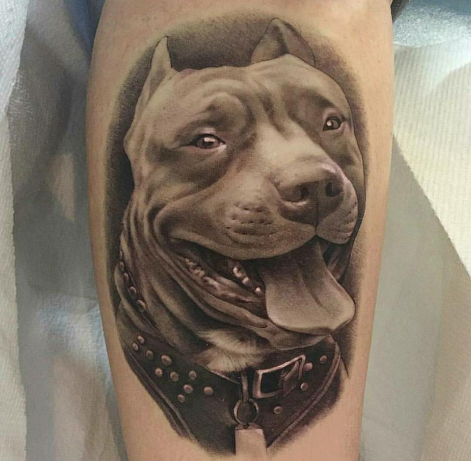Dog tattoo 50 cute dog tattoo ideas for men who loves dogs for Tattoo of my dog