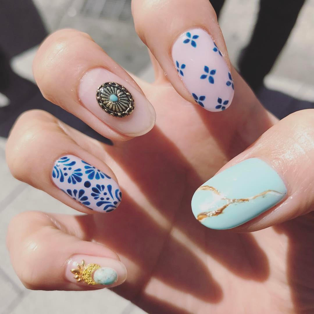 Art Designs: 40 Awesome Boho Nail Art Ideas To Adorn Your Nails With