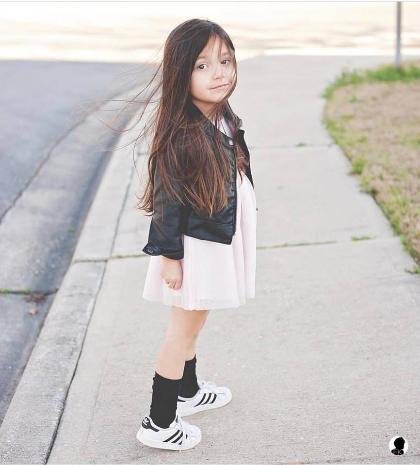 55 Snazzy Little Girl Sneaker Outfits That Are A Seamless