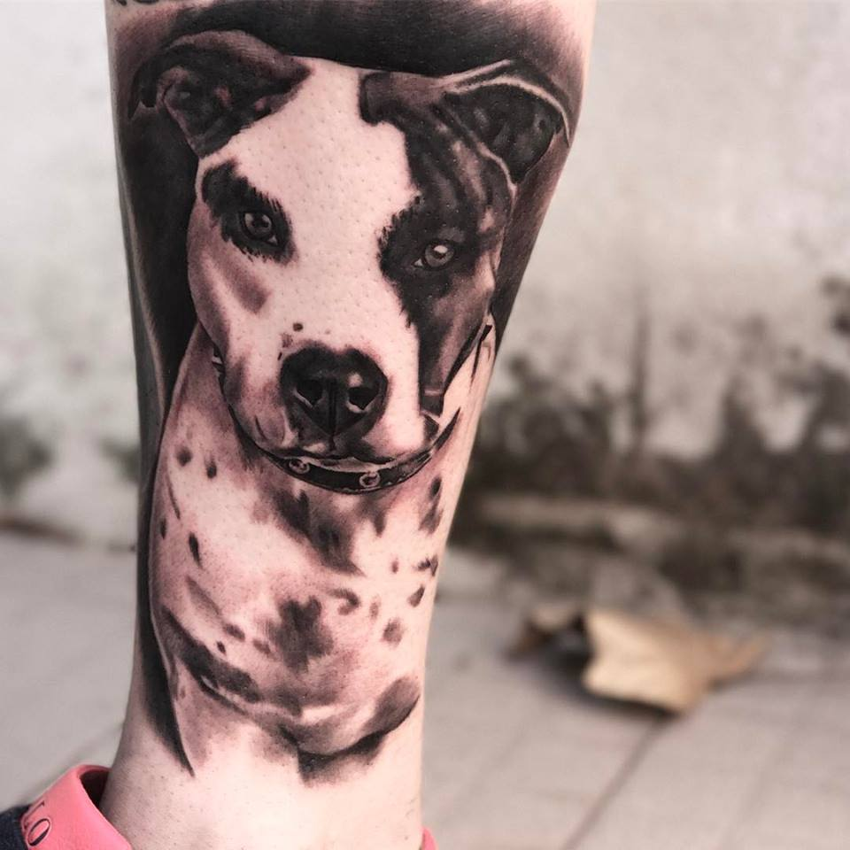 dog tattoo 50 cute dog tattoo ideas for men who loves dogs. Black Bedroom Furniture Sets. Home Design Ideas