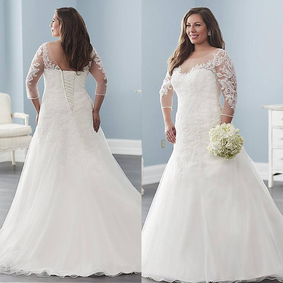 40 Lovely Plus Size Wedding Dresses for Brides on Their Wedding