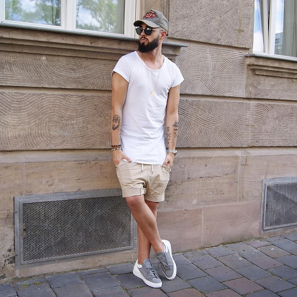 off the Wall Mens Summer Casual Shorts