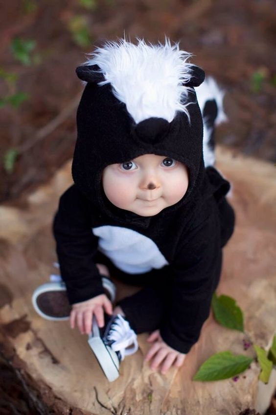 ... Adorable Pottery Barn baby skunk costume! ... & 50+ Adorable Baby Wearing Halloween Costumes To Make You Go Aww