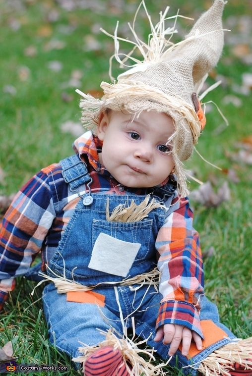 ... Halloween costume baby Mike Ditka Baby Scarecrow Costume ...  sc 1 st  Gravetics & 50+ Adorable Baby Wearing Halloween Costumes To Make You Go Aww