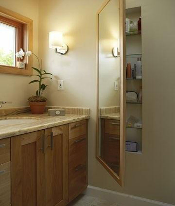33 out of the box and trend setting hidden storage ideas - Bathroom mirror with hidden storage ...