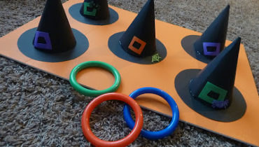 DIY Witch Ring Toss by Sometimes Creative