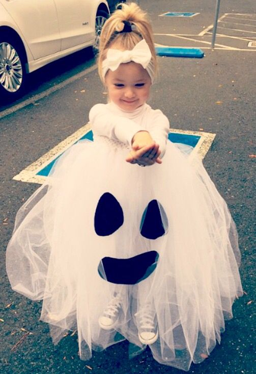 ... DIY toddler Halloween ghost costume ...  sc 1 st  Gravetics & 50+ Adorable Baby Wearing Halloween Costumes To Make You Go Aww
