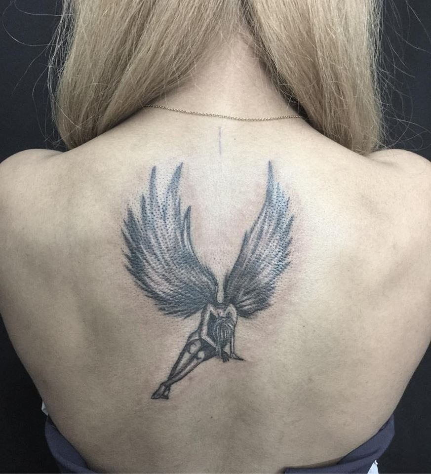 116f5f06de57c 50 Amazing Angel Tattoo Designs That Come With Powerful Meanings