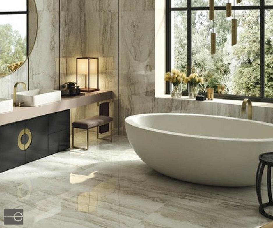 40 Warm Stone Bathroom Design Ideas That You Will