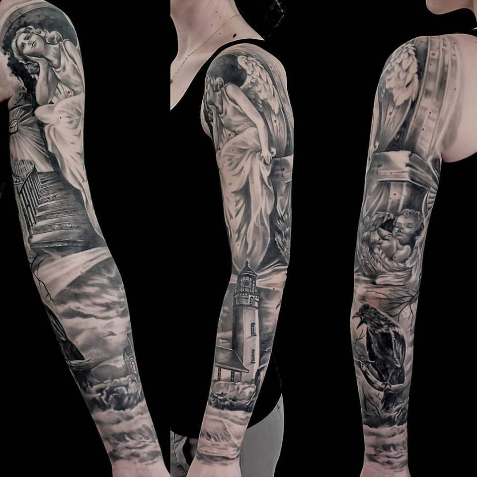 50 amazing angel tattoo designs that come with powerful